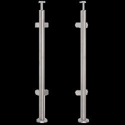 Słupek nierdzewny fi 42.4mm narożnikowy