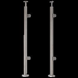 Słupek nierdzewny fi 42.4mm końcowy