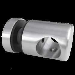 Uchwyt przelotowy pręta 16mm z uchwytem do szkła 25/M6