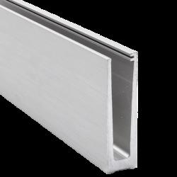 Profil aluminiowy do balustrad całoszklanych